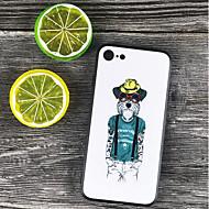 Недорогие Кейсы для iPhone 8-Кейс для Назначение Apple iPhone X / iPhone 8 Plus Защита от удара / С узором Кейс на заднюю панель Мультипликация Твердый ПК для iPhone