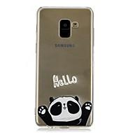Недорогие Чехлы и кейсы для Galaxy А-Кейс для Назначение SSamsung Galaxy A8 2018 / A8 Plus 2018 Прозрачный / С узором Кейс на заднюю панель Панда Мягкий ТПУ для A5(2018) /