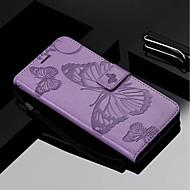 Недорогие Чехлы и кейсы для Galaxy J3(2016)-Кейс для Назначение SSamsung Galaxy J7 (2017) / J5 (2017) Кошелек / Бумажник для карт / со стендом Чехол Бабочка Твердый Кожа PU для J7