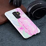 Недорогие Чехлы и кейсы для Galaxy S7 Edge-Кейс для Назначение SSamsung Galaxy S9 Plus / S9 С узором Кейс на заднюю панель Мрамор Твердый ПК для S9 / S9 Plus / S8 Plus