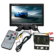 billige Elektronik til bilen-ziqiao lastbil bus stort køretøj kamera monitor kit 7 tommer tft lcd farve bagfra monitor backup ir led kamera vandtæt