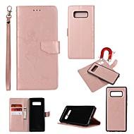 Недорогие Чехлы и кейсы для Galaxy Note-Кейс для Назначение SSamsung Galaxy Note 8 Бумажник для карт / Кошелек / со стендом Чехол Соблазнительная девушка Твердый Кожа PU для
