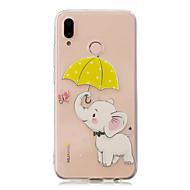 お買い得  携帯電話ケース-ケース 用途 Huawei P20 Pro / P10 Plus クリア / パターン バックカバー 象 ソフト TPU のために Huawei P20 lite / Huawei P20 Pro / Huawei P20