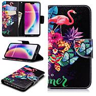 お買い得  携帯電話ケース-ケース 用途 Huawei P20 Pro / P20 lite ウォレット / カードホルダー / スタンド付き フルボディーケース フラミンゴ ハード PUレザー のために Huawei P20 / Huawei P20 Pro / Huawei P20 lite