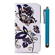 preiswerte Handyhüllen-Hülle Für Huawei Honor 7A / Honor 7C(Enjoy 8) Geldbeutel / Kreditkartenfächer / mit Halterung Ganzkörper-Gehäuse Schmetterling Hart
