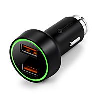 Недорогие Автомобильные зарядные устройства-Автомобиль Автомобиль USB зарядное гнездо 2 USB порта for 12 V