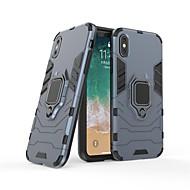 Недорогие Кейсы для iPhone 8 Plus-Кейс для Назначение Apple iPhone X / iPhone 8 Кольца-держатели Кейс на заднюю панель Однотонный Твердый ПК для iPhone X / iPhone 8 Pluss / iPhone 8