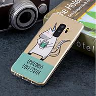 Недорогие Чехлы и кейсы для Galaxy S9 Plus-Кейс для Назначение SSamsung Galaxy S9 Plus / S9 IMD / С узором Кейс на заднюю панель единорогом Мягкий ТПУ для S9 / S9 Plus / S8 Plus