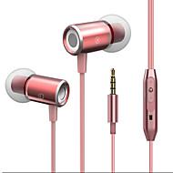 abordables Accesorios para Tablet y PC-JTX J02 En el oido Cable Auriculares Micrófono Aluminum Alloy Deporte y Fitness Auricular Con Micrófono / Confortable Auriculares
