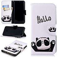 Недорогие Чехлы и кейсы для Galaxy S8 Plus-Кейс для Назначение SSamsung Galaxy S9 Plus / S9 Кошелек / Бумажник для карт / со стендом Чехол Слова / выражения / Панда Твердый Кожа PU