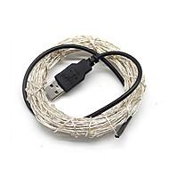 economico Strisce LED-5m Fili luminosi 50 LED Bianco caldo / Luce fredda / Colori primari USB / Decorativo Alimentazione USB 1pc