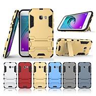 Недорогие Чехлы и кейсы для Galaxy А-Кейс для Назначение SSamsung Galaxy A3(2017) со стендом Кейс на заднюю панель Однотонный Твердый ПК для A3 (2017)
