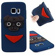 Недорогие Чехлы и кейсы для Galaxy S-Кейс для Назначение SSamsung Galaxy S7 Защита от удара / С узором Кейс на заднюю панель С собакой Мягкий ТПУ для S7