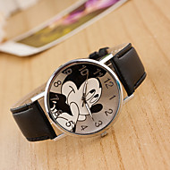 preiswerte Schmuck & Armbanduhren-Damen Armbanduhr Quartz Armbanduhren für den Alltag lieblich Leder Band Analog Zeichentrick Modisch Schwarz / Weiß / Blau - Rot Rosa Hellblau