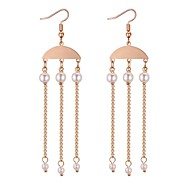 cheap -Women's Long Drop Earrings - Imitation Pearl Vintage, Ethnic, Fashion Gold For Going out / Birthday