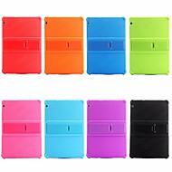 Kılıf Na Huawei MediaPad MediaPad T3 10(AGS-W09, AGS-L09, AGS-L03) Odporny na wstrząsy / Z podpórką Osłona tylna Solidne kolory Miękka Silikon na Huawei MediaPad T3 10(AGS-W09, AGS-L09, AGS-L03)