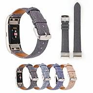 baratos Acessórios para Smartwatch-Pulseiras de Relógio para Fitbit Blaze Fitbit Pulseira de Couro Tecido Tira de Pulso