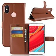 お買い得  携帯電話ケース-ケース 用途 Xiaomi Redmi S2 / Mi 8 ウォレット / カードホルダー / フリップ フルボディーケース ソリッド ハード PUレザー のために Redmi Note 5A / Xiaomi Redmi Note 5 Pro / Xiaomi Redmi注5
