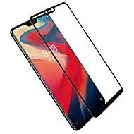 お買い得  スクリーンプロテクター-スクリーンプロテクター のために OnePlus OnePlus 6 強化ガラス 1枚 フルボディプロテクター ハイディフィニション(HD) / 硬度9H / 2.5Dラウンドカットエッジ