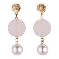 preiswerte -Damen Lang Tropfen-Ohrringe - Künstliche Perle Einfach, Geometrisch, Modisch Weiß Für Alltag