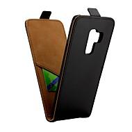 Недорогие Чехлы и кейсы для Galaxy S9 Plus-Кейс для Назначение SSamsung Galaxy S9 Plus Бумажник для карт / Флип Чехол Однотонный Твердый Кожа PU для S9 Plus