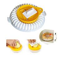 お買い得  キッチン用小物-3pcs電子レンジポテトチップメーカーはポテトスライサーボウルカッターキッチンツールを設定します.