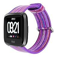 Недорогие Аксессуары для смарт-часов-Ремешок для часов для Fitbit Versa Fitbit Классическая застежка Нейлон Повязка на запястье