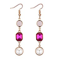 cheap -Women's Long Drop Earrings - Imitation Pearl Vintage, Ethnic, Fashion White / Red / Blue For Party / Party / Evening