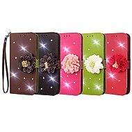 Case For LG G6 / G2 Mini Wallet / Card Holder / Rhinestone Full Body Cases Solid Colored / Flower Hard PU Leather for LG G6 / LG G5 / LG G4