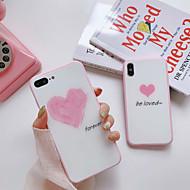 Недорогие Кейсы для iPhone 8 Plus-Кейс для Назначение Apple iPhone X / iPhone 7 Защита от пыли Кейс на заднюю панель Слова / выражения / С сердцем Твердый Силикон для