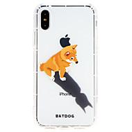 Недорогие Кейсы для iPhone 8 Plus-Кейс для Назначение Apple iPhone X / iPhone 8 Ультратонкий Кейс на заднюю панель С собакой Мягкий ТПУ для iPhone X / iPhone 8 Pluss / iPhone 8