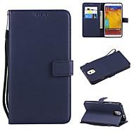 Недорогие Чехлы и кейсы для Galaxy Note 8-Кейс для Назначение SSamsung Galaxy Note 8 / Note 5 Кошелек / Бумажник для карт / Флип Чехол Однотонный Твердый Кожа PU для Note 8 / Note 5 / Note 4