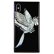 Недорогие Кейсы для iPhone 8-Кейс для Назначение Apple iPhone X / iPhone 8 С узором Кейс на заднюю панель Животное Твердый Закаленное стекло для iPhone X / iPhone 8 Pluss / iPhone 8