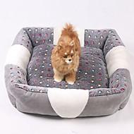 お買い得  ペット用品 & アクセサリー-ミニ / 保温 / ソフト 犬の服 ベッド 格子柄 / ファッション グレー 犬用 / ウサギ / 猫用