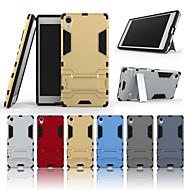 お買い得  携帯電話ケース-ケース 用途 Sony Xperia Z5 Premium スタンド付き バックカバー ソリッド ハード PC のために Sony Xperia Z5 Premium