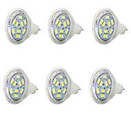 お買い得  LED スポットライト-6本 1.5 W 250 lm MR11 LEDスポットライト MR11 9 LEDビーズ SMD 5730 クールホワイト