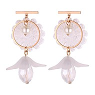 cheap -Women's Long Drop Earrings - Imitation Pearl Vintage, Ethnic, Fashion White / Gray For Party / Evening / Going out