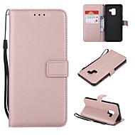 Case For Samsung Galaxy A6+ (2018) / A6 (2018) Wallet / Card Holder / Flip Full Body Cases Solid Colored Hard PU Leather for A5(2018) / A6 (2018) / A6+ (2018)