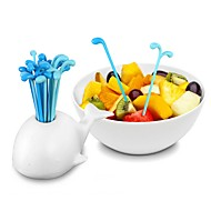 abordables Cubertería-la fruta de la ballena escoge 16pcs merienda tenedor postre aperitivo palillos de dientes