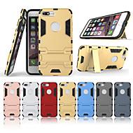 Недорогие Кейсы для iPhone 8 Plus-Кейс для Назначение Apple iPhone 8 Plus со стендом Кейс на заднюю панель Однотонный Твердый ПК для iPhone 8 Pluss