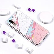 お買い得  携帯電話ケース-ケース 用途 Huawei P20 Pro / P20 lite メッキ仕上げ / IMD / パターン バックカバー マーブル ソフト TPU のために Huawei P20 / Huawei P20 Pro / Huawei P20 lite