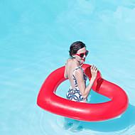 abordables Deportes Acuáticos-Heart Shape Colchonetas inflables para piscina PVC Duradero, Inflable Natación / Deportes acuáticos para Adultos 110*90 cm
