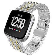 Недорогие Аксессуары для смарт-часов-Ремешок для часов для Fitbit Versa Fitbit Бабочка Пряжка Металл / Нержавеющая сталь Повязка на запястье