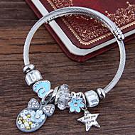 preiswerte -Damen Skulptur Bettelarmbänder - Stern, Schleife Europäisch, Süß, Modisch Armbänder Rosa / Hellblau Für Alltag