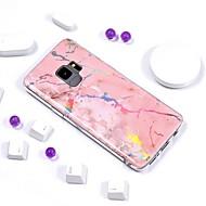 Недорогие Чехлы и кейсы для Galaxy S-Кейс для Назначение SSamsung Galaxy S9 Plus / S9 Покрытие / IMD / С узором Кейс на заднюю панель Мрамор Мягкий ТПУ для S9 / S9 Plus / S8 Plus