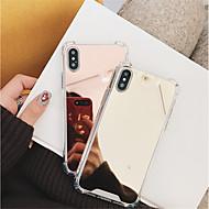 Недорогие Кейсы для iPhone 8-Кейс для Назначение Apple iPhone X / iPhone 8 Защита от удара / Зеркальная поверхность Кейс на заднюю панель Однотонный Твердый ПК для iPhone X / iPhone 8 Pluss / iPhone 8