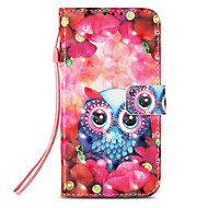 cheap -Case For Apple iPhone X / iPhone 8 Card Holder / with Stand / Flip Full Body Cases Owl Hard PU Leather for iPhone X / iPhone 8 Plus / iPhone 8