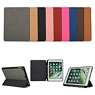 Case For Apple iPad (2018) / iPad (2017) with Stand / Flip Full Body Cases Solid Colored Hard Textile for iPad Air / iPad (2018) / iPad Pro 10.5