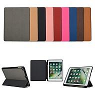 abordables Carcasas y Fundas para iPad-Funda Para Apple iPad (2018) / iPad (2017) con Soporte / Flip Funda de Cuerpo Entero Un Color Dura Textil para iPad Air / iPad (2018) / iPad Pro 10.5