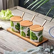 abordables Especieras-Organización de cocina Cocteleras y trituradores / Cajas de cocina Madera / Cerámica Almacenamiento / Árbol / Encantador 7pcs
